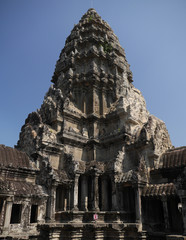 Angkor Wat central tower, Cambodia