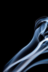 White smoke stream close up.