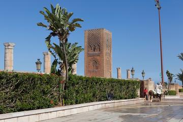 месте разваУ входа в мемориальный комплекс. Рабат. Марокко
