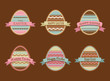 Happy Easter - set of stylish eggs icons