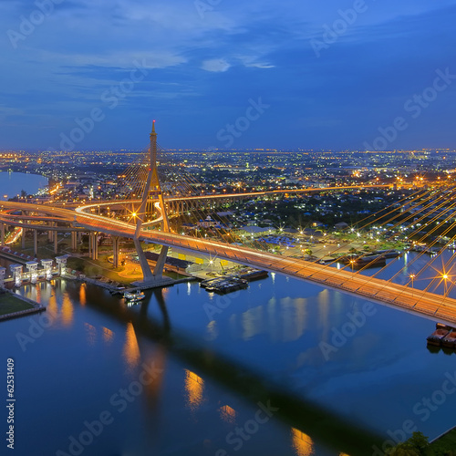 Foto op Canvas Praag Bhumibol Bridge
