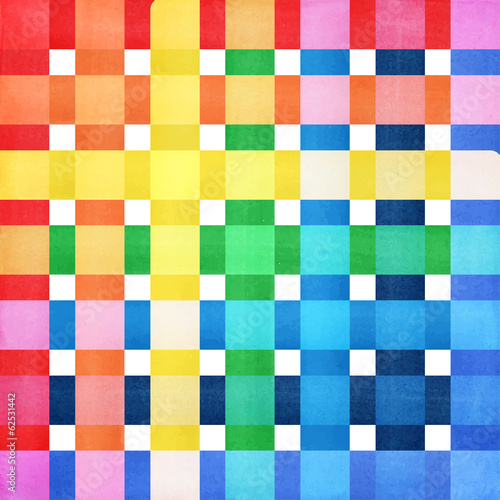 Checkered colorful background vector