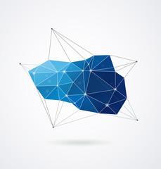 Polygonal geometric, vector 3D printing background