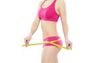 Frau Fitness Maßband pink