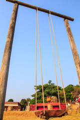 giant swing on wooden