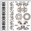 set of calligraphic patterns