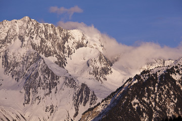 Mountains above Courchevel