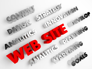 WWW, web site. Concept abstract background with 3D.