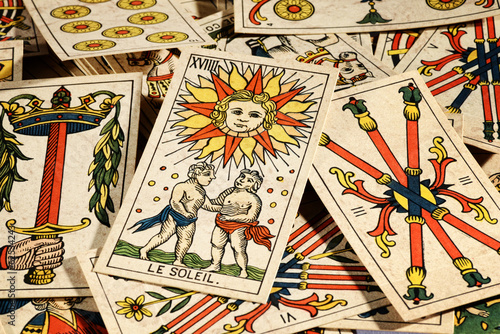 Set of tarot cards
