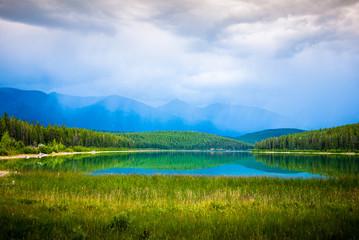Patricai lake in Jasper