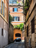 Street scene from Trastevere district of Rome, Italy
