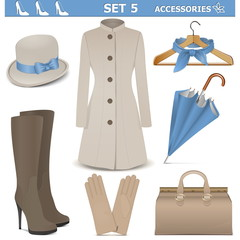 Vector Female Accessories Set 5