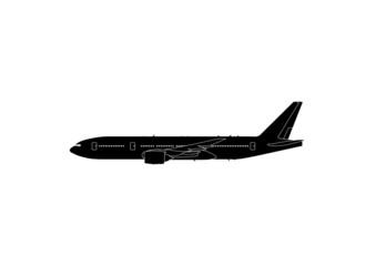 777-200 ER Boeing Flugzeug Silhouette