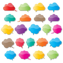 cloud speech bubbles