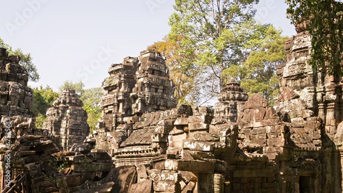 Ruins of old temples of the 12th century. Cambodia, Angkor