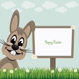 happy bunny sign board daisy meadow