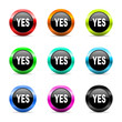 yes icon vector set