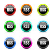 rss icon vector set