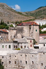 Stone building in Mostar, Bosnia and Herzegovina