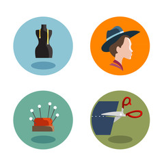 Tailor Icons. Vector format
