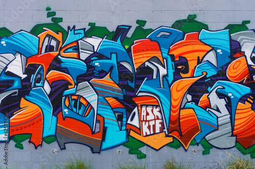 Fototapeta Street art on wall