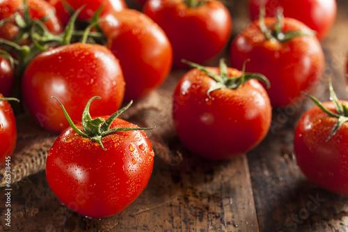 Plexiglas Groenten Organic Red Ripe Tomatoes