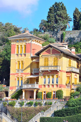 historic mansions in Levanto, Italy