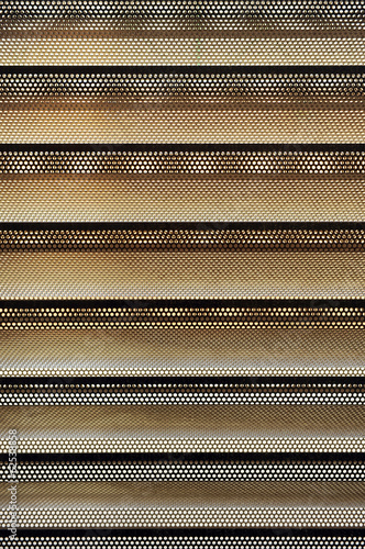 Perforated and folded sheet, building material