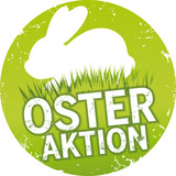 Button Osteraktion mit Hase