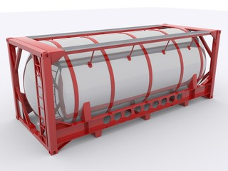 Roter Tankcontainer
