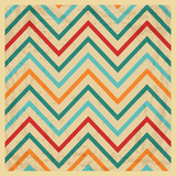 Vintage Geometric Zigzag Background