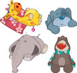 Set of soft toys cartoon