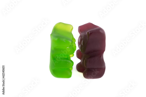 Colorful jelly bear candies set