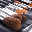 Make-up brushes in  case