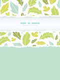 Vector leaves silhouettes vertical torn seamless pattern