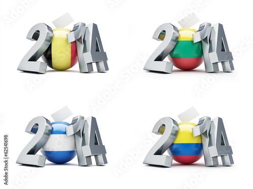 elections in Romania, El Salvador, Colombia, Lithuania  2014