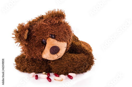bear taking tablets