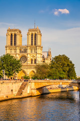 Notre Dame de Paris at sunset