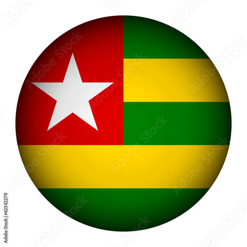 Togo flag button.