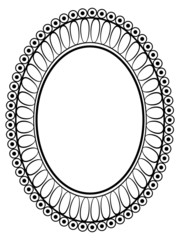 oval ornamental decorative frame