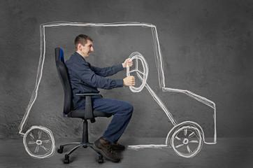 Driver. Conceptual image.