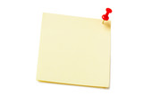 Yellow sticky paper isolated