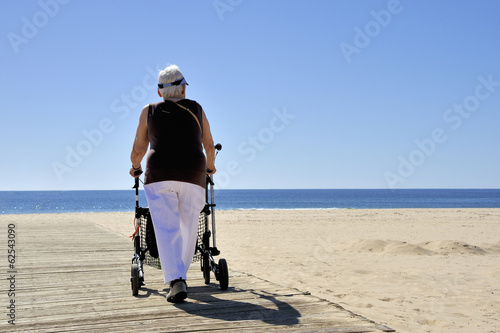 Old lady with rollator