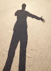 Schatten Handschlag