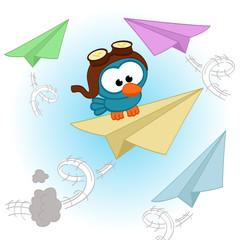 bird  pilot  - vector illustration