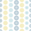 vector yellow gray abstract mandalas striped seamless pattern