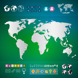 Vector World Map Infographics Template