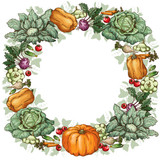 Round vegetable frame