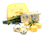 Cheese on Wooden Background