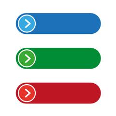 Empty button set vector
